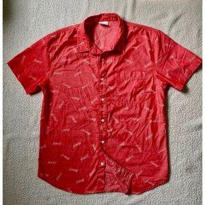 Budweiser Hawaiian Camp Button Up Short Sleeve